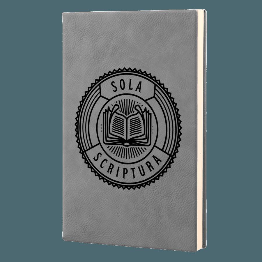 Sola Scriptura Badge Leatherette Hardcover Journal