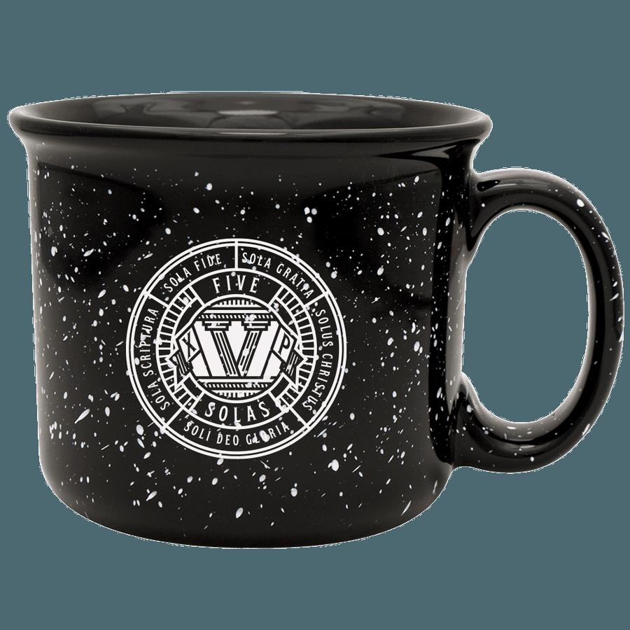 The Five Solas Camp Mug Black