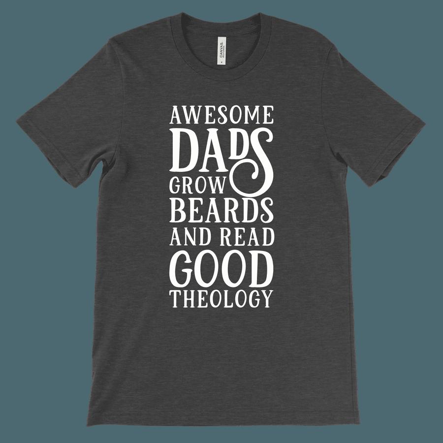 Awesome Dads Grow Beards Tee