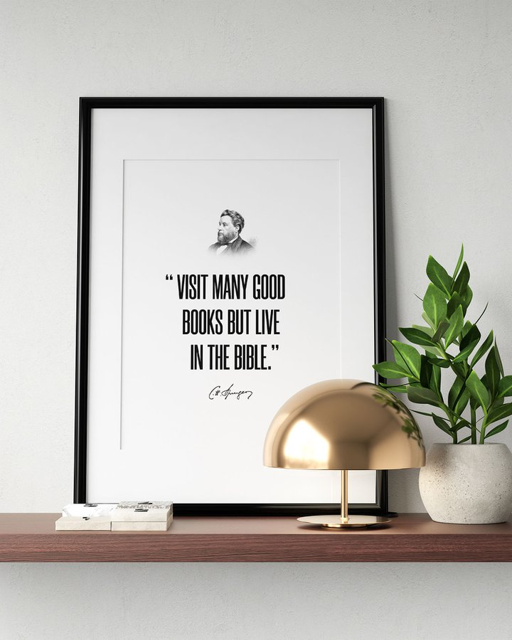 "Charles Spurgeon ""Live in the Bible"" – Poster Print"