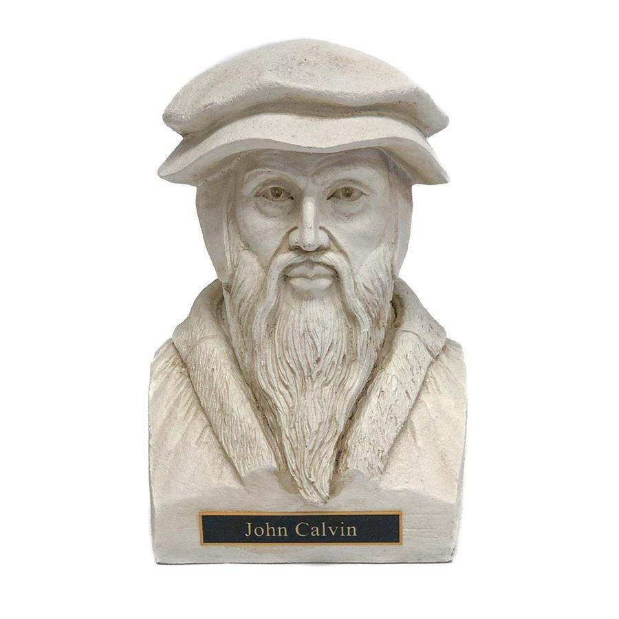 John Calvin Statue Bust - White