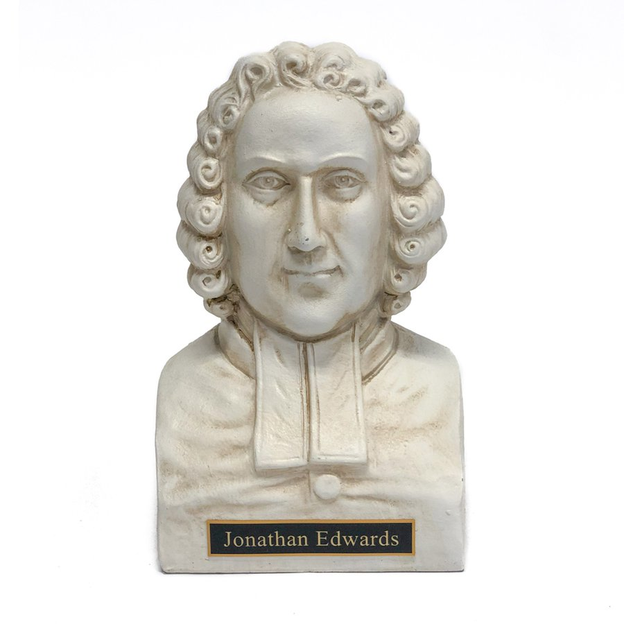 Jonathan Edwards Statue Bust - White