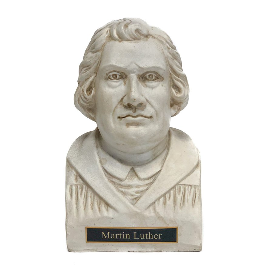 Martin Luther Statue Bust - White