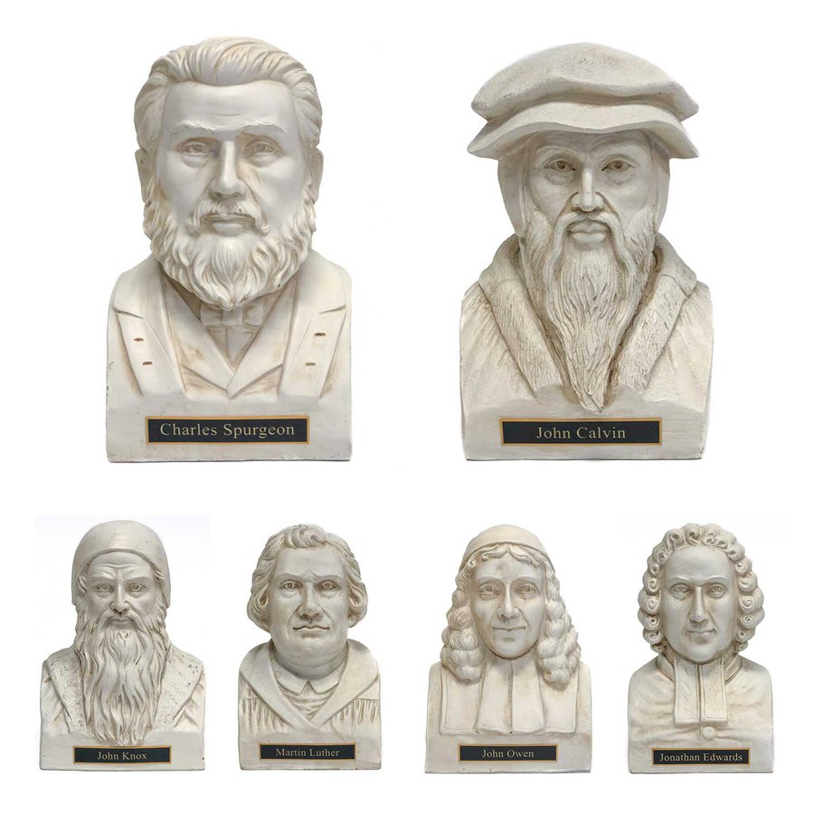 Theologian Statues White - Set of 4