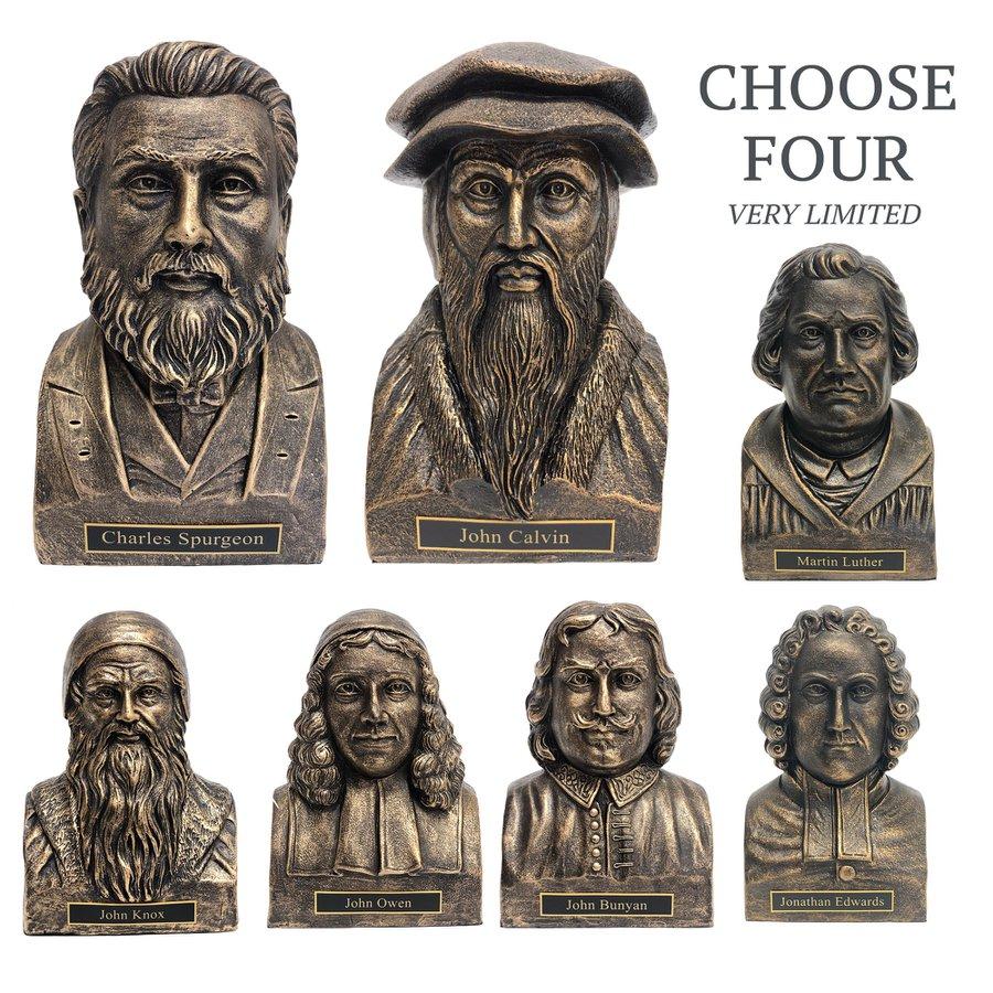 Theologian Statues Bronze - Set of 4