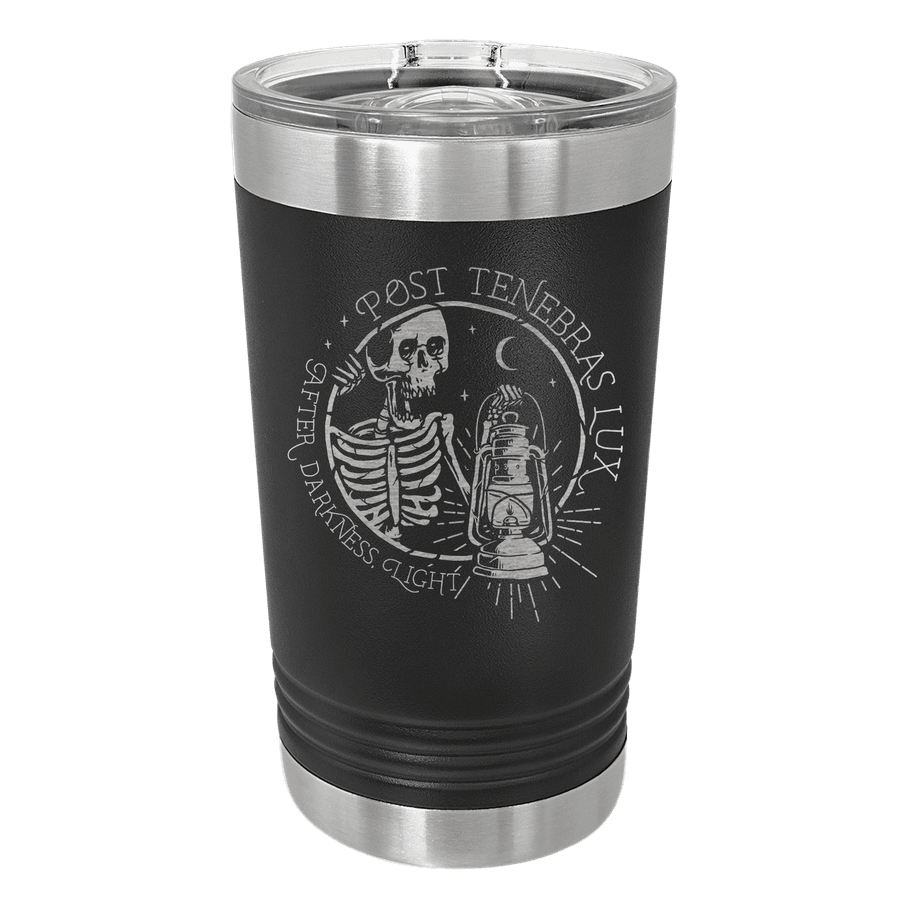 Post Tenebras Lux Insulated Pint