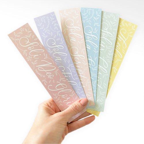 Five Solas Floral Bookmark