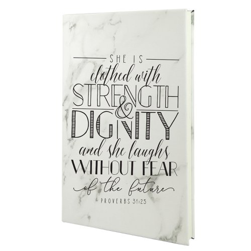 She Is Clothed With Strength And Dignity Proverbs 31 Leather Journal