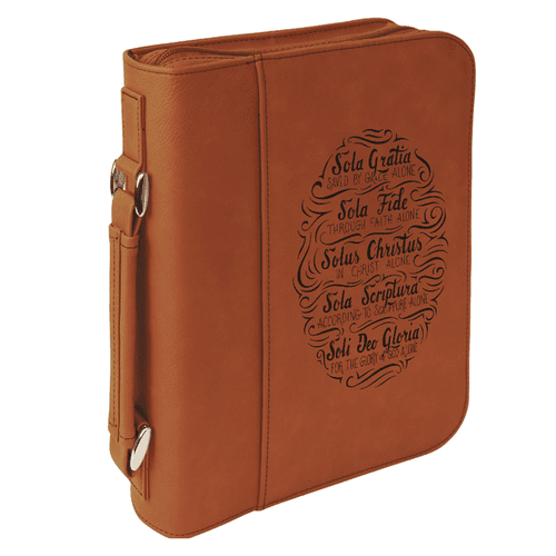 Five Solas Handlettered Bible Cover