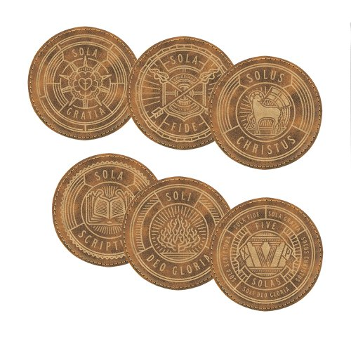 Five Solas Leatherette Coaster