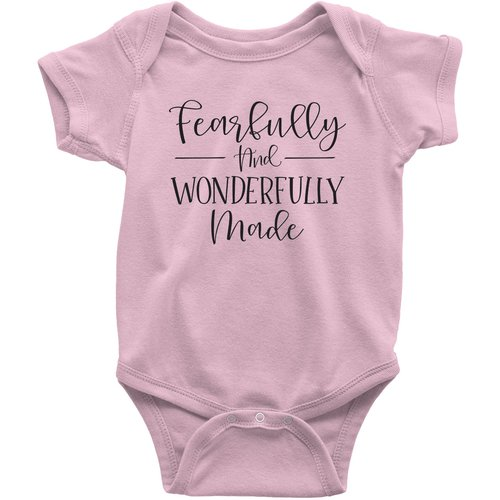 Fearfully and Wonderfully Made Baby Infant Onesie