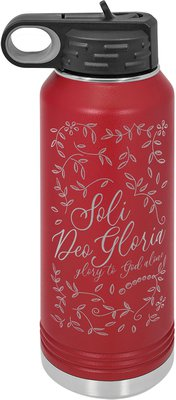 Soli Deo Gloria Floral Insulated Water Bottle